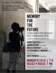 Memory for the Future: Collaborative Witnessing in Post-  Dictatorship Chile