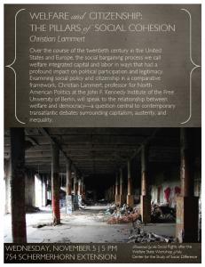 "Christian Lammert on ""Welfare and Citizenship: The Pillars of Social Cohesion"""